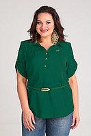 Женская летняя из вискозы зеленая блуза Таир-Гранд 62171 изумруд 50р.