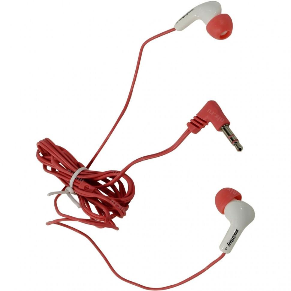 Наушники проводные пассивные SmartBuy GUPPY, розовые (SBE-420) / 240 - фото 1
