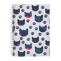 Блокнот-скетчбук А5, 60 листов на гребне 'Космические Коты', твёрдая обложка, матовая ламинация, блок офсет 100 г/м2