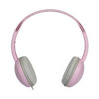 Накладные наушники Smartbuy KIDS, детские: с ограничителем громкости -80дБ, 40мм, розовые (SBE-620)