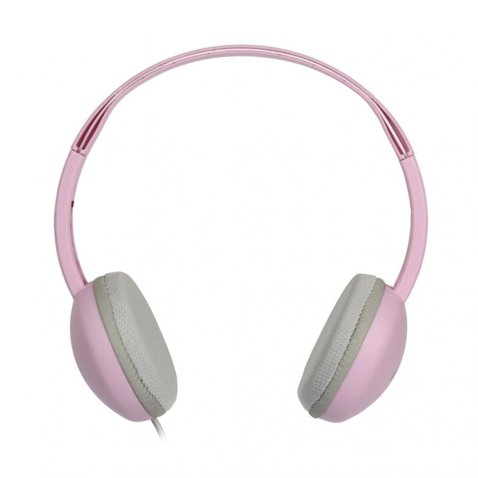 Накладные наушники Smartbuy KIDS, детские: с ограничителем громкости -80дБ, 40мм, розовые (SBE-620) - фото 1