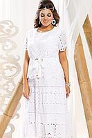 Женский летний кружевной белый большого размера комплект с платьем Vittoria Queen 10933/2 58р.