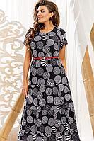 Женское летнее нарядное большого размера платье Vittoria Queen 10993/1 62р.