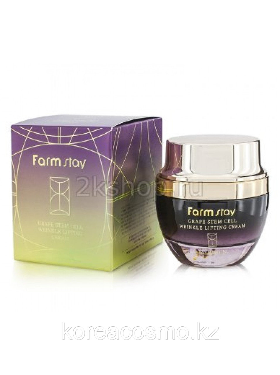 FarmStay Лифтинг-крем от морщин с фитостволовыми клетками винограда Grape Stem Cell Wrinkle Lifting Cream 50g