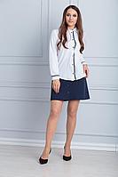 Женская осенняя синяя деловая юбка Anelli 538 42р.