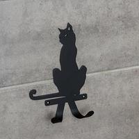 Крючок для сумок 'Кошка', цвет чёрный