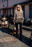 Женское осеннее драповое серое пальто Azzara 3071 44р.