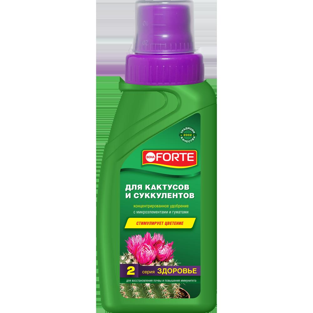 Bona Forte Здоровье Жидкое органо-минеральное удобрение Для  кактусов, флакон  285 мл