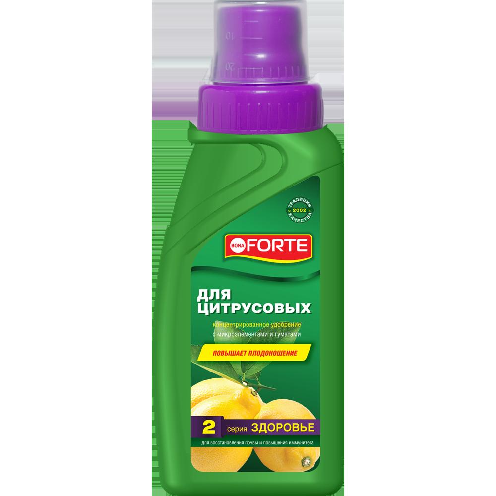 Bona Forte Здоровье Жидкое органо-минеральное удобрение Для  цитрусовых, флакон  285 мл