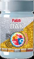 Лак акриловый с блестками Palizh (0,2 кг), золото