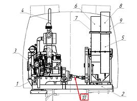 Вал карданный КО-318