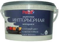 Краска акриловая моющаяся интерьерная Palizh (3,7 кг), имбирь