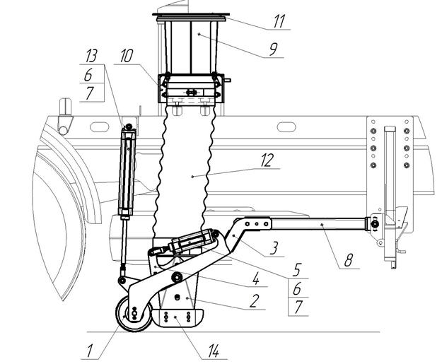 Сменная гильза всасывающего тракта КО-318А 28.01.180