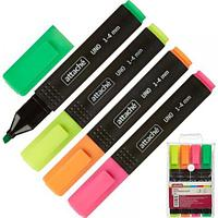 Набор маркеров текстовых Attache Economy Uno, 1-4 мм, 4 цвета