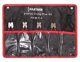 (PA-6877A) Набор съемников стопорных колец, 5пр. (L-200мм+съемник стопорных колец суппортов), на полотне