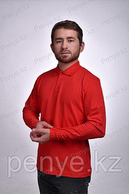 Футболка Поло с длинным рукавом 95% Хлопок 5% Лайкры