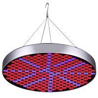Фитопанель фитолампа круглая UFO красно-синий спектр с подвесом на тросиках