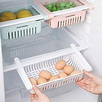 Универсальная раздвижная полка контейнер для холодильника.