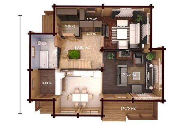 дом из бруса по проекту, план двухэтажного дома и строительство под ключ, проектирование и строительство деревянных домов.