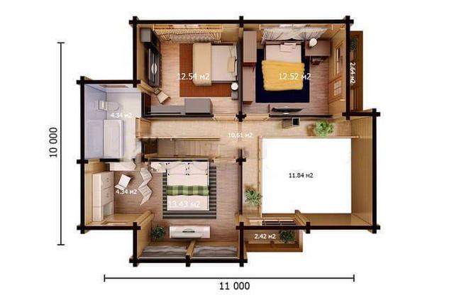 Проекты деревянных домов из бруса, план двухэтажного дома и строительство под ключ, проектирование и строительство деревянных домов.
