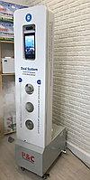 Корейский премиальный стационарный термометр с функцией распозн.лиц + дезинфектор всего тела