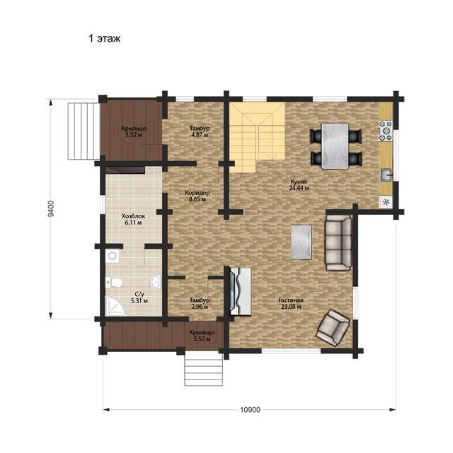 проекты деревянных домов с террассой, план двухэтажного дома и строительство под ключ, проектирование и строительство деревянных домов.