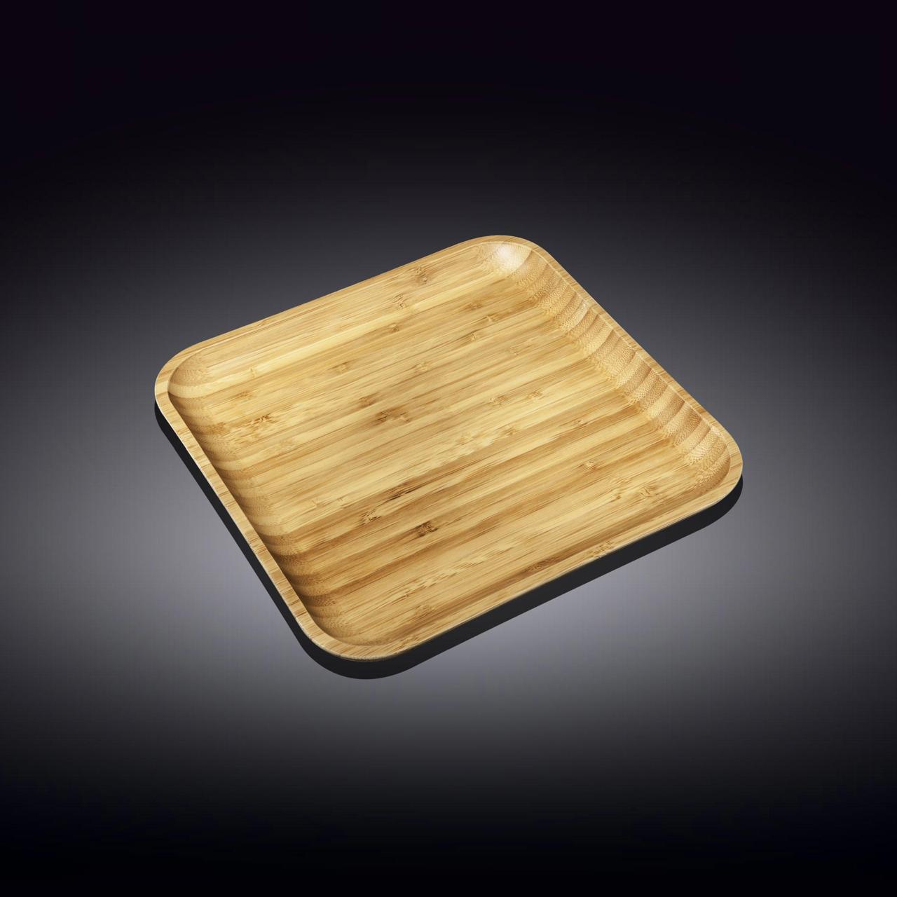 Тарелка бамбуковая Wilmax сервировочная квадратная 23 x 23 см