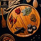 Сервировочное блюдо 25,5 см Wilmax бамбуковое круглое, фото 3
