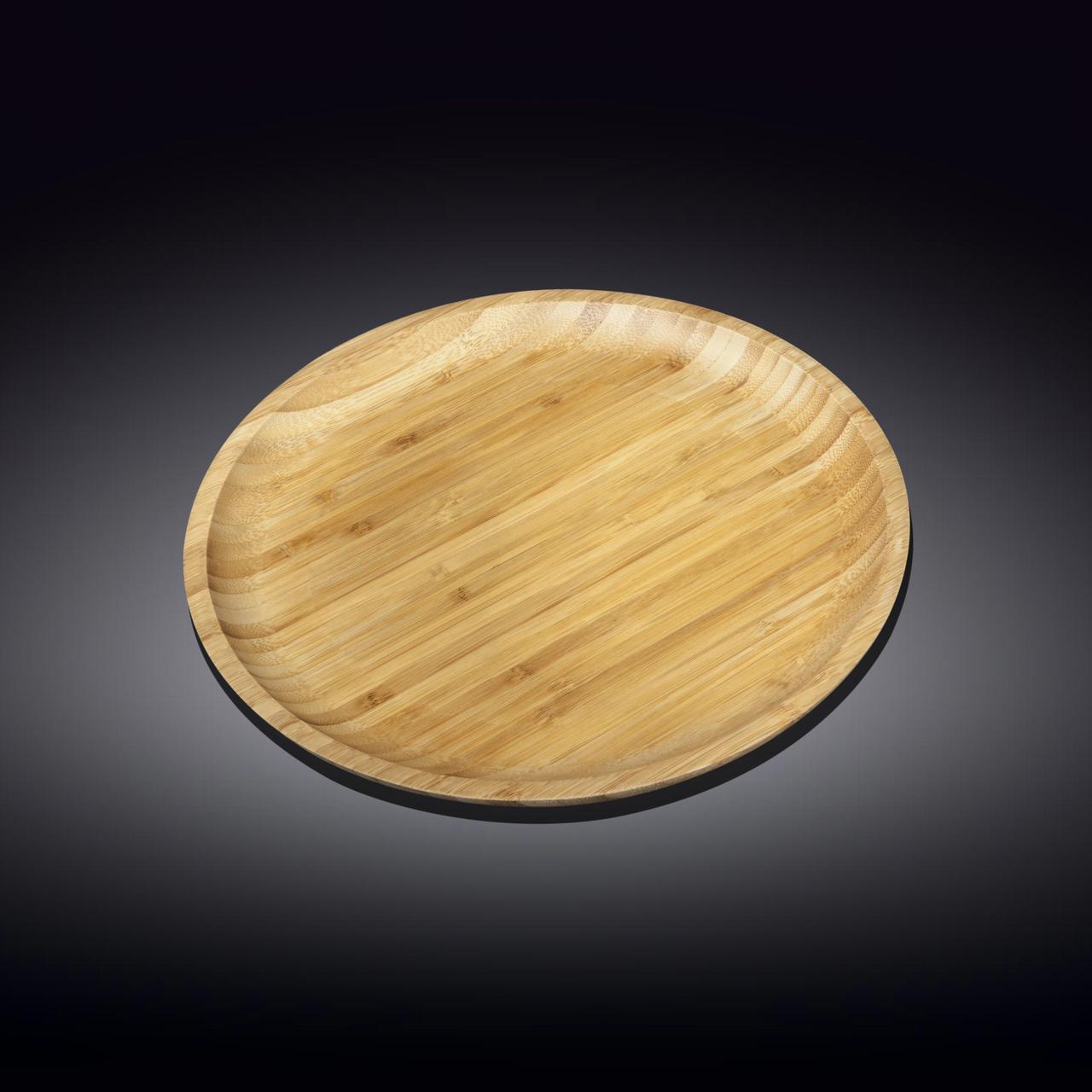 Сервировочное блюдо 25,5 см Wilmax бамбуковое круглое