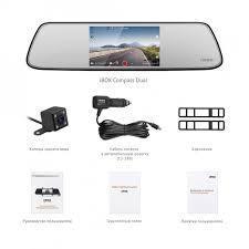 Видеорегистратор-зеркало iBOX Compass Dual, черный