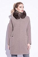 Пальто зимнее, 40-48, песец, пепельно-бежевое