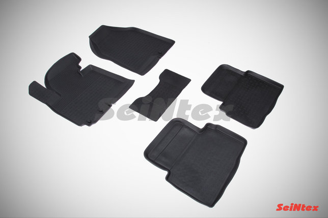 Резиновые коврики с высоким бортом для Hyundai ix35 2010-2015, фото 2