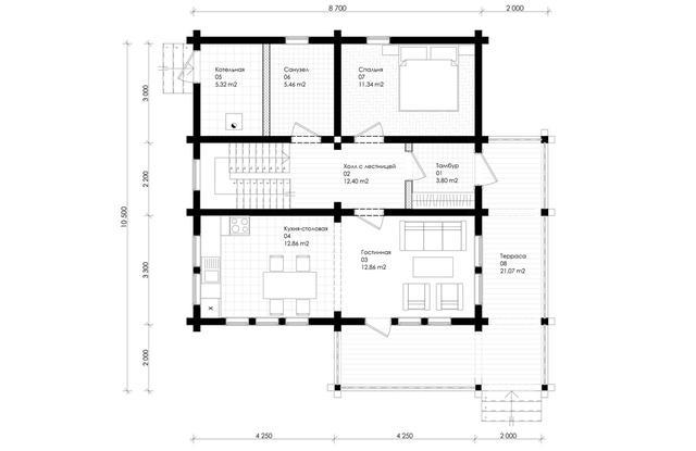 Проекты домов дерева, план двухэтажного дома и строительство под ключ, проектирование и строительство деревянных домов.