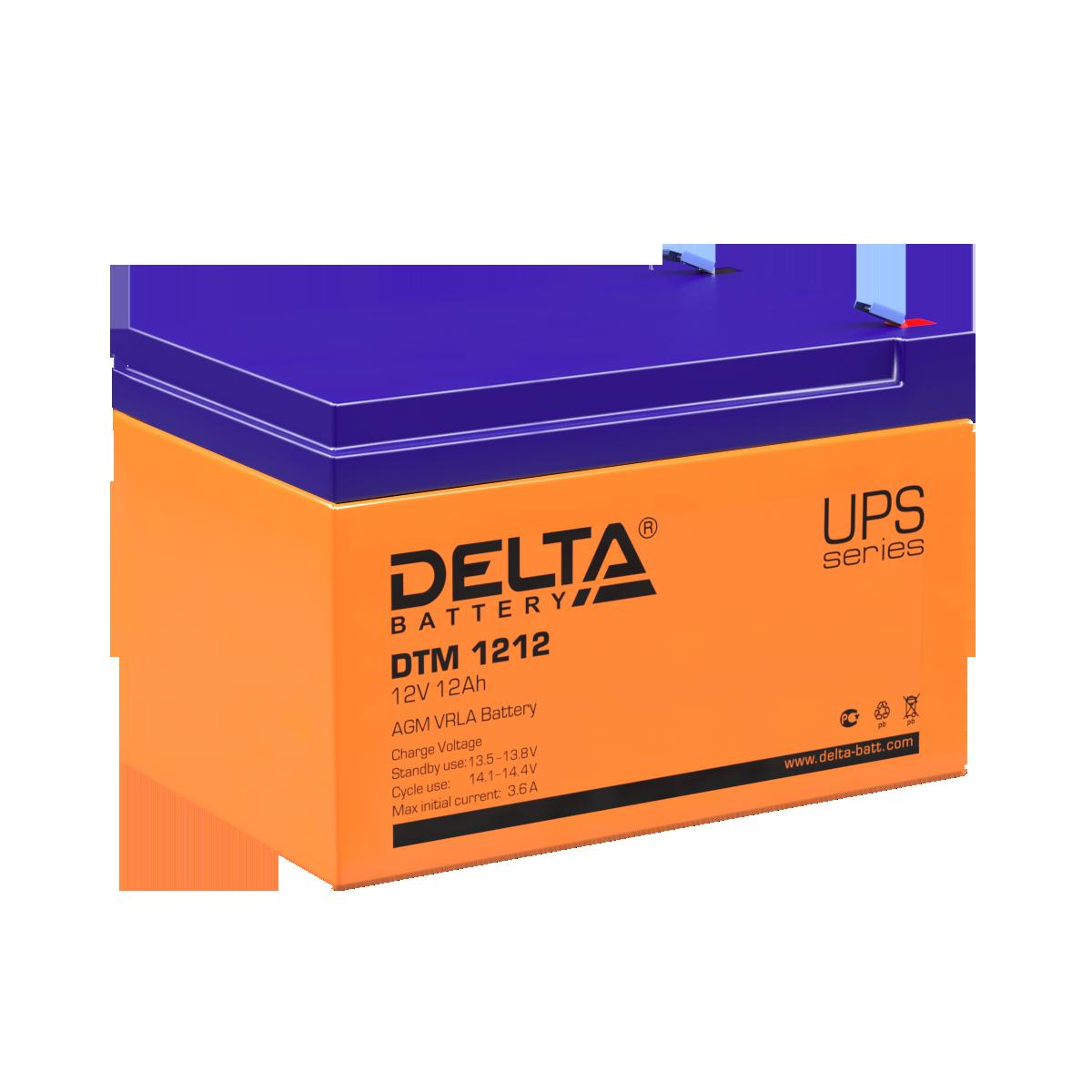 Аккумуляторы Delta DTM 1212