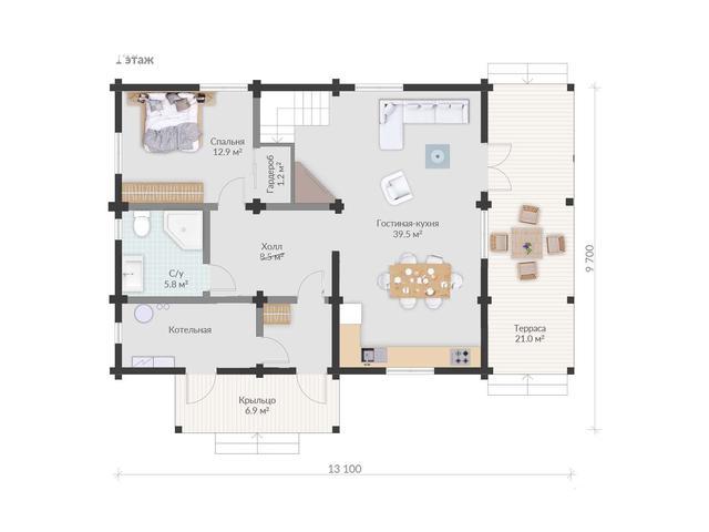Проекты деревянных домов , план двухэтажного дома и строительство под ключ, проектирование и строительство деревянных домов.