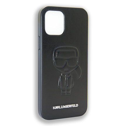 Karl Lagerfeld Collections IKONIK OUTLINE Black Apple iPhone 12 Max, iPhone 12 Pro, фото 2
