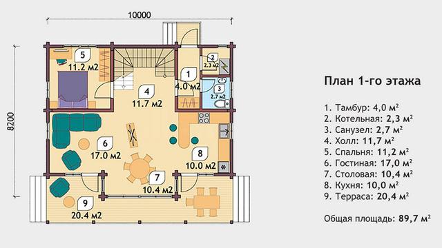 Проекты домов из дерева, план двухэтажного дома и строительство под ключ, проектирование и строительство деревянных домов.
