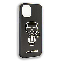 Karl Lagerfeld Collections IKONIK OUTLINE White Apple iPhone 12 Max, iPhone 12 Pro