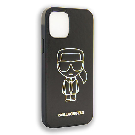 Karl Lagerfeld Collections IKONIK OUTLINE White Apple iPhone 12 Max, iPhone 12 Pro, фото 2