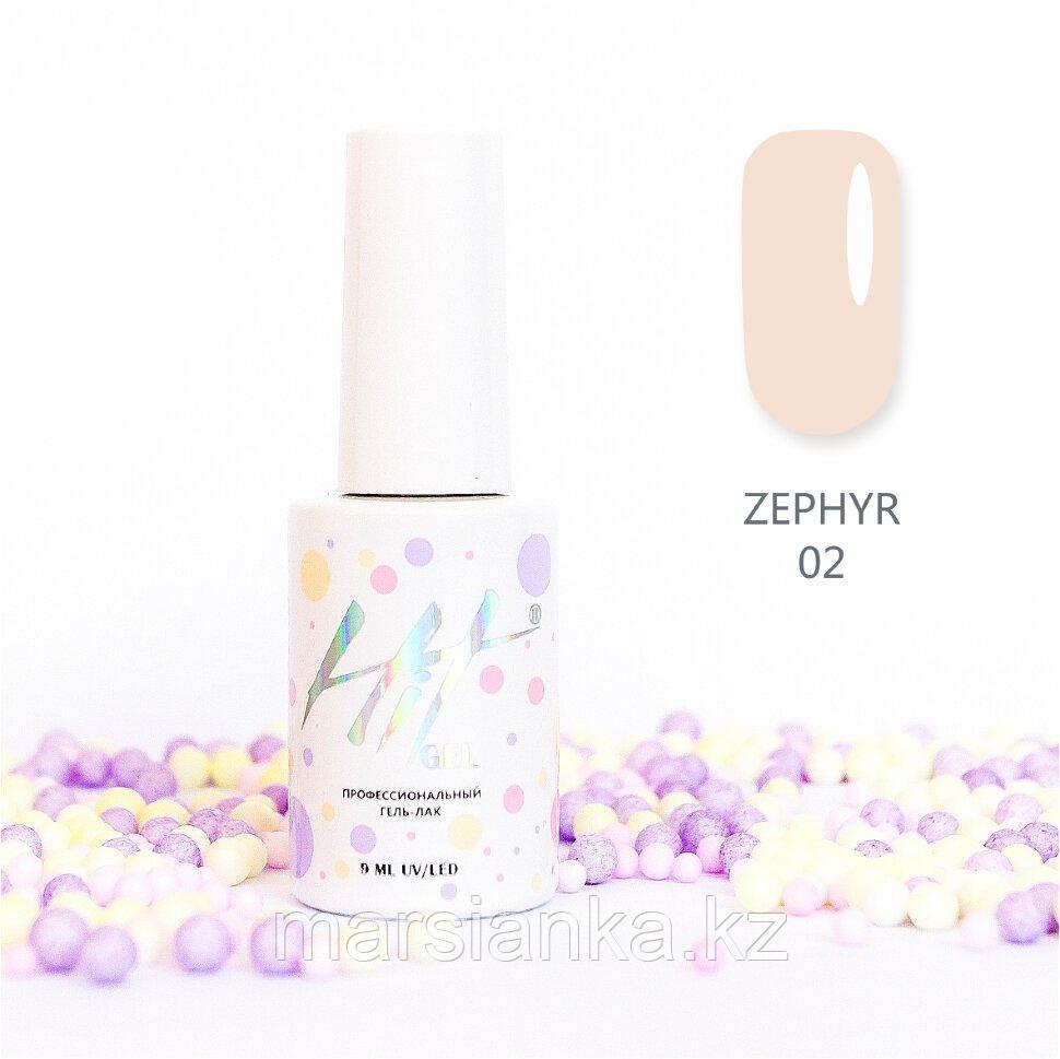 Гель-лак HIT gel Zephyr №02, 9мл