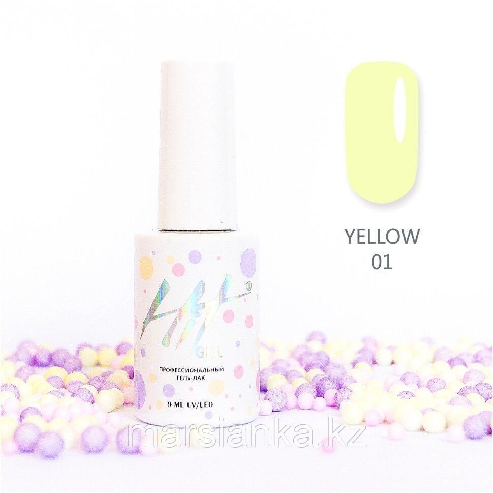 Гель-лак HIT gel Yellow №01, 9мл