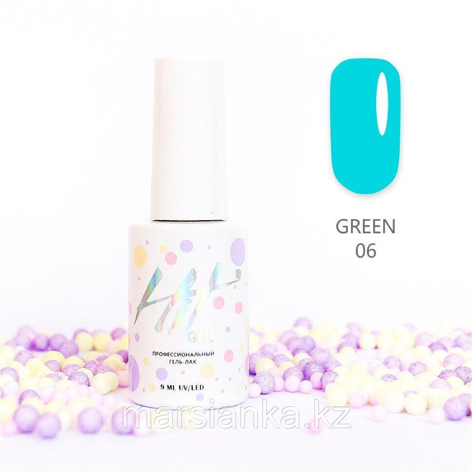 Гель-лак HIT gel Green №06, 9мл