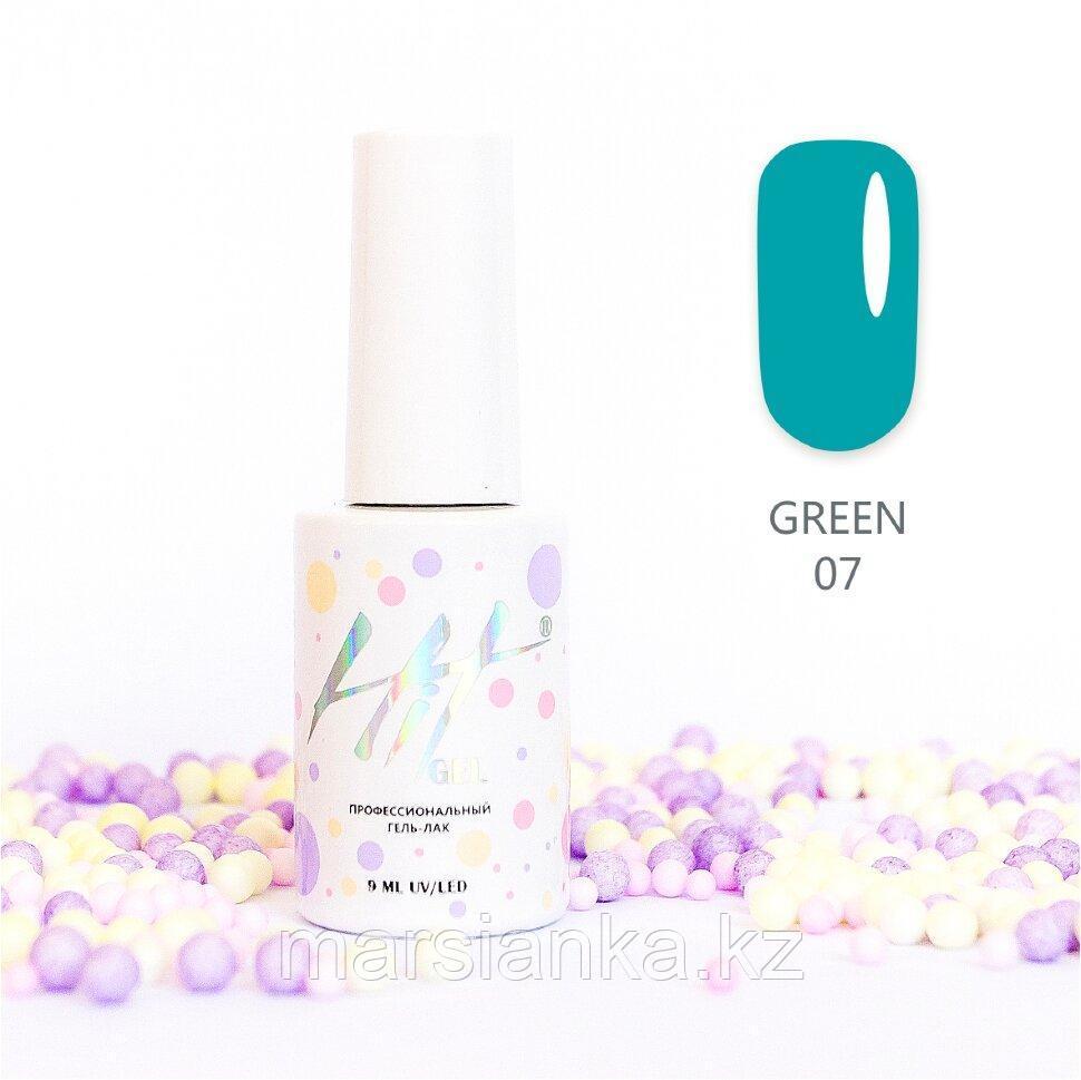 Гель-лак HIT gel Green №07, 9мл
