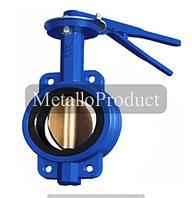 Затвор поворотный дисковый межфланцевый ручной «бабочка» DX71-10 (Ру-16) Ду40
