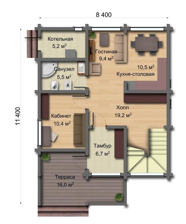 Проекты деревянных домов из дерева, план двухэтажного дома и строительство под ключ, проектирование и строительство деревянных домов.