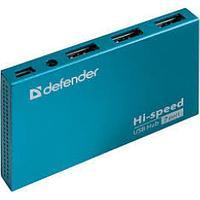 Разветвитель Универсальный Defender Septima Slim USB2.0, 7портов,блок питания2A
