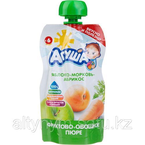 Пюре детское фруктовое АГУША яблоко-морковь-абрикос 90 г