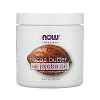 Now Foods, какао-масло с маслом жожобы, 192 мл