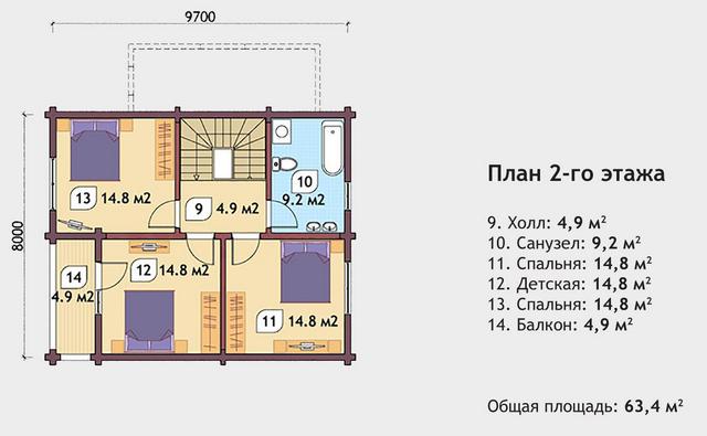 Проекты деревянных домов из оцилиндрованного дерева, план двухэтажного дома и строительство под ключ, проектирование и строительство деревянных домов.