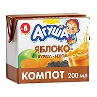 Сок детский АГУША компот курага-изюм 0.2